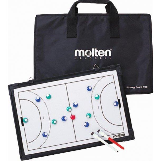 Håndbold taktiktavle med taske - str. 30x45